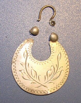 Ancient SILVER Big earring  Middle Ages original