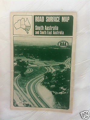 Retro - Vintage - Road Surface Map - South Australia - July, 1972 - Fold Out