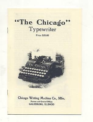 Chicago Typewriter facsimile brochure A5 size 8 pages