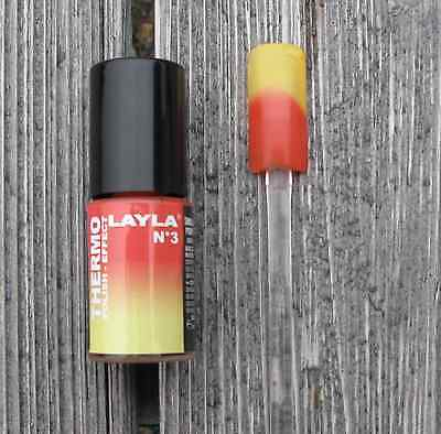 (118€/100ml) 5ml RED TO YELLOW LAYLA Nagellack THERMO EFFECT
