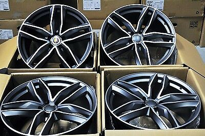 """20"""" 2016 S-Line Style Wheels Rims Fits Audi A4 A6 A8 S4 S6 S8 Rs4 Rs6 Q3 1196"""