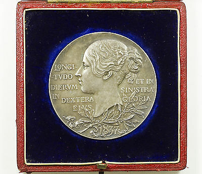 Medal, Victoria Diamond Jubilee, Official, Silver, Large 56Mm, Cased, 1897