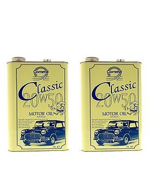 Comma Classic 20W50 Engine Oil 2X5Litre Cans