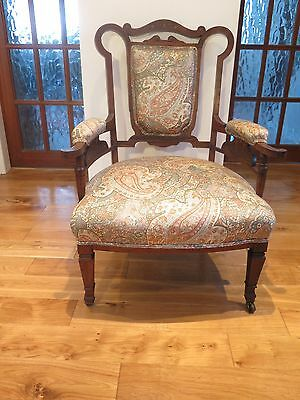 Stunning Edwardian Mahogany Armchair with inlaid stringing and pattern
