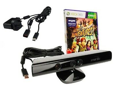 Xbox 360 Kinect Sensor With Kinect Adventures PSU Supply - 24 Hour Dispatch