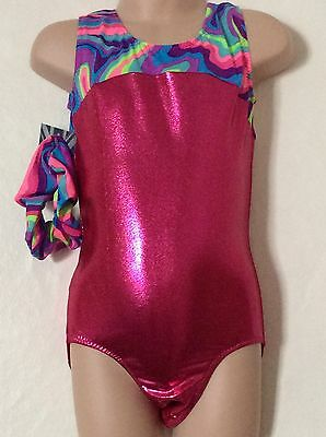 New Leotard And Shorts Set Gymnastic Trampoline Dance Size 26 (5-6 Yrs )