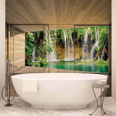 WALL MURAL PHOTO WALLPAPER XXL Window Forest Waterfall Lake Nature	 (3316WS)
