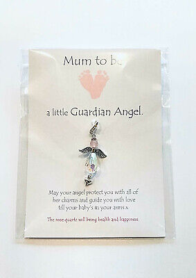 Mum-to-be pregnancy guardian angel wing bracelet/clip on ideal baby shower gift