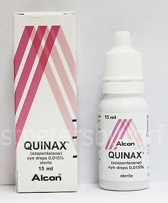 QUINAX (LUTRAX) ALCON ANTI CATARACTS Eye drops MADE IN Belgium 15ML