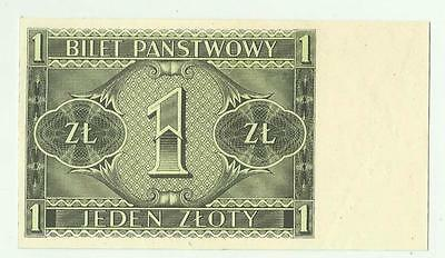 Poland 1 Zloty 1938 SPECIMEN only one side printed