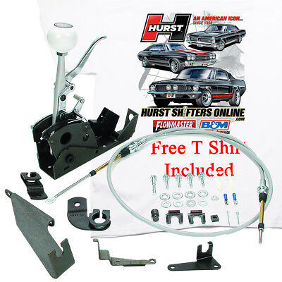 Hurst Quarter Stick Shifter 3160001 2 Speed PG Powerglide Reverse, FREE T SHIRT