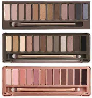 Nude Eye Shadow 12 Shade Pallet From Colours Naked To Smokey Black