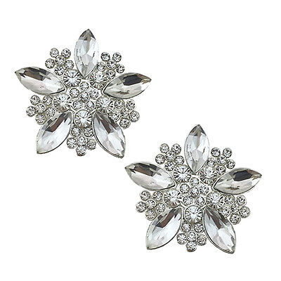 "Jewelled Shoe Clips, Shoe Jewels, Bridal Prom Shoe Accessories (1 Pair) ""Elsa"""