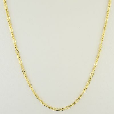 10K Yellow Gold 2.5Mm Oval 3/1 Flat Cable Link Necklace Or Bracelet Set