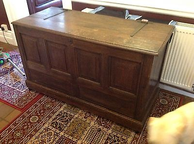 An Eighteenth Century Antique Oak Coffer Toy Box TV Stand Large Huge