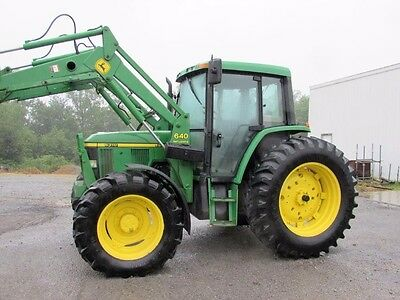 John Deere 6310 Diesel Tractor 4 X 4 With Cab & Loader