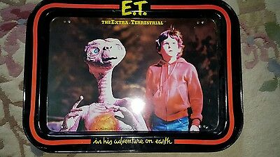 """1982 E.T. TV """"The Extra Terrestrial"""" Metal Folding TV Tray~USED"""