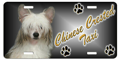 Chinese Crested  Taxi Line License Plate (( SPECIAL LOW CLEARANCE PRICE ))