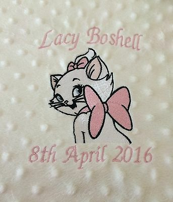 Personalised Dimple  Fleece Baby Blanket Princess Tiara Extra Thick Luxury Minky