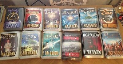 Lot of 12 New & Sealed Scientology Congress Lectures From L. Ron Hubbard