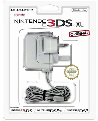 Official Genuine Nintendo 3DS and XL AC Power Adapter Charger New & Sealed UK