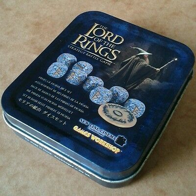 Warhammer Games Workshop LOTR Strategy Battle Game Mines of Moria Dice Set