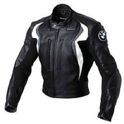 BMW Design Motorcycle Motorbike Racing Biker Real Leather Jacket, CE ARMOR