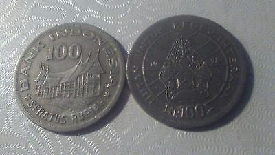 Republic of Indonesia - Indonesian 1978 100 Rupiah Coin - Minangkabau House