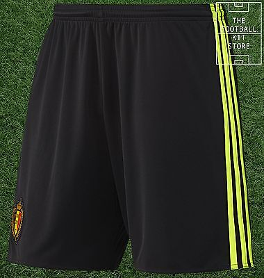 Belgium Home Shorts -  Official adidas Boys Football Shorts - All Sizes