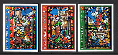GB Locals: Isle of Anglesey Christmas Church Windows 2016 English Set IMPERF 3v