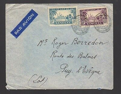 SENEGAL Old Air Mail Cover to France