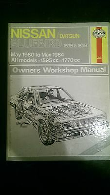Nissan Micra K10 workshop  manual Haynes 931  1983 to 1993