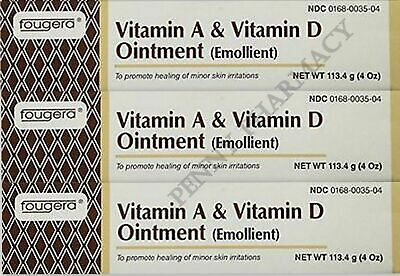 Fougera Vitamin A & D Ointment 4oz Tube ( 4 pack )