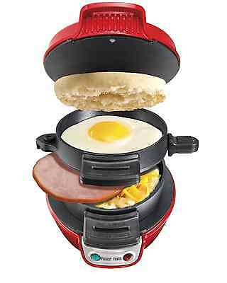 Hamilton Homemade Breakfast Sandwich Maker Muffin Egg Gourmet Toaster Kitchen