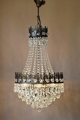 Home Living Classic Antique French Vintage Crystal Chandelier Lamp Old Lighting