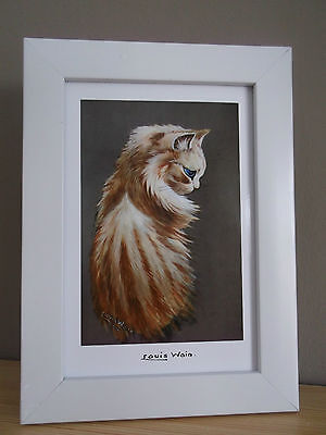 Cats In Art, Framed Louis Wain Print, Ideal Gift