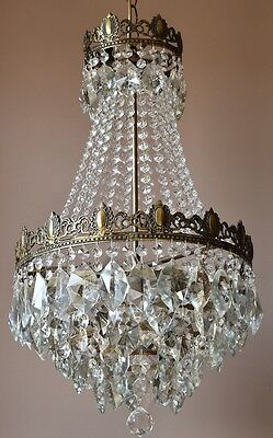 Home Pendant Antique French Vintage Crystal Chandelier Lamp Old Home Lighting