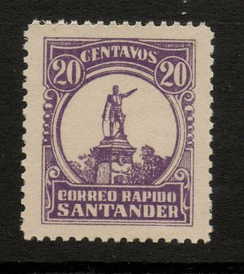 Colombia - Correo Rapido Santander 1928 Local Stamp Private Express Company
