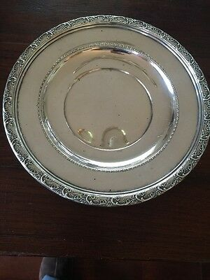 """REED & BARTON STERLING SILVER CHARGER PLATE #X531 9 1/2"""" Vining Floral"""