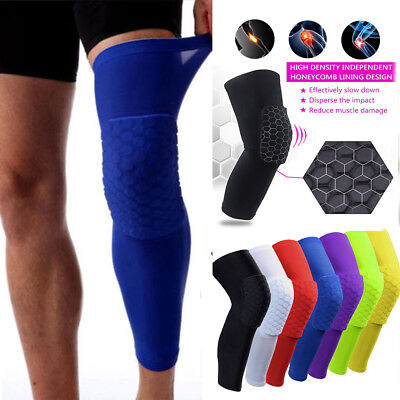 4 colours Honeycomb Pad Protective Gear Basketball leg Sleeve patella support H