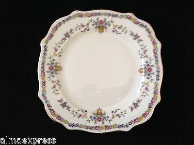 "Epiag Czech China EPI 343 Urn Floral Band Gold Ivory SQUARE 8-1/2"" SALAD PLATE"