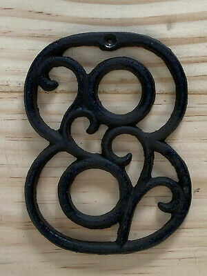 Vintage-Style Cast Iron Decorative Scroll NUMBER EIGHT (8) Address Street House