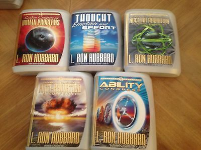 L Ron Hubbard Scientology Lot Of 5 Lectures