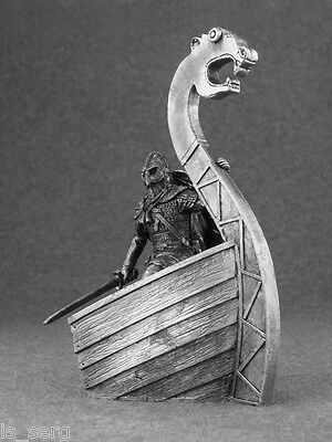 Viking 1/32 Action Figurine Handmade Tin Metal Antique Toy Soldier 54mm