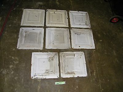 Lot #3 - 8 Reclaimed Antique Tin 12x12 Ceiling Tiles Salvage