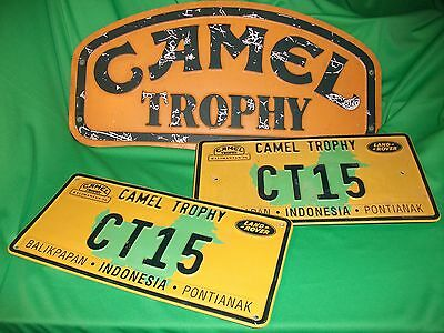 Camel Trophy GENUINE Convoi - and Front Roof - Plaques    ***very- very rare**
