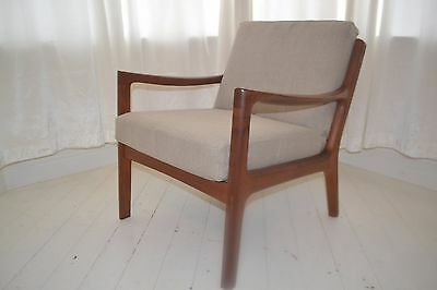 Stunning Vintage Ole Wanscher France & Sons Danish Teak Lounge Arm Chair