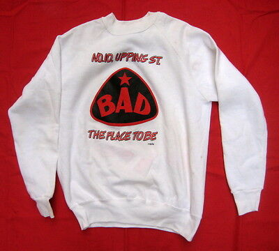 B.A.D. Big Audio Dynamite 1986 size XL rare promo sweatshirt No 10 Upping Street