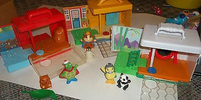 2007  ALL 3 Wonder Pets On-The-Go Play Sets Cages Habitats Ming MIng Tuck Linny