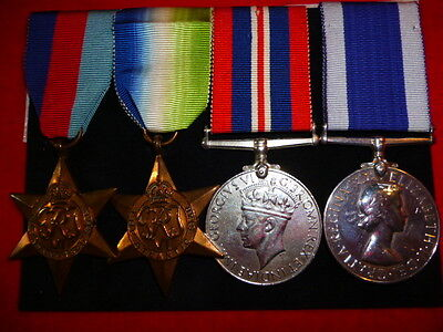 Royal Navy Elizabeth II WW2 Long Service Group of (4) Medals to H.M.S. Comet
